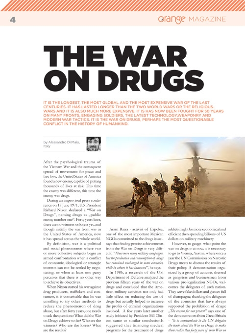 The war on drugs (REPORTAGE)